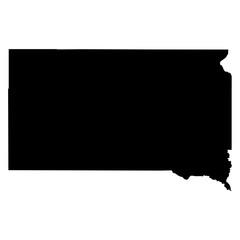 South Dakota map on white background vector