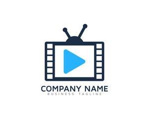 Video TV Logo Design Template