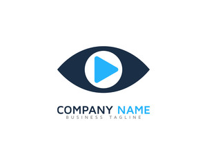 Video Eye Logo Design Template
