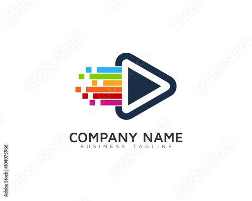 quot video motion logo design template quot stock image and royalty free vector files on fotolia com