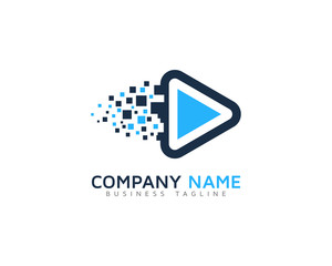 Video Pixel Logo Design Template