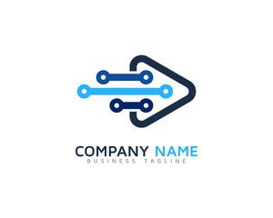 Data Video Logo Design Template