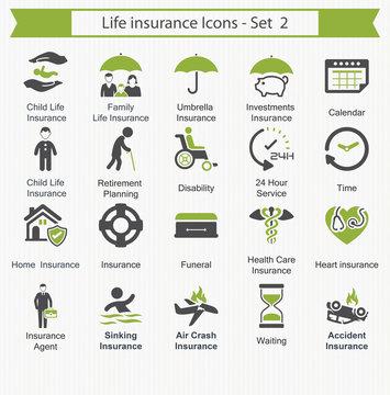 Life insurance Icons - Set 2