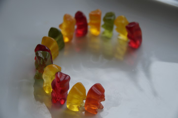 gummy bear background line