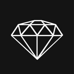 Diamond icon. Expensive gift.