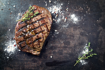 Rib Eye Steak gegrillt