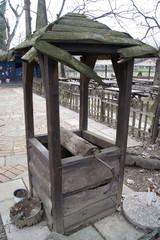 Old wooden well in Belgrade.