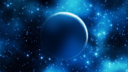Planet on a starry background.