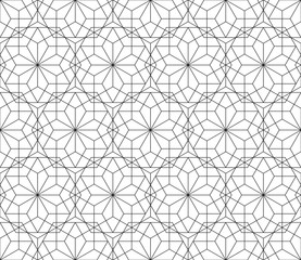 Floral seamless pattern with lines, modern stylish vector texture