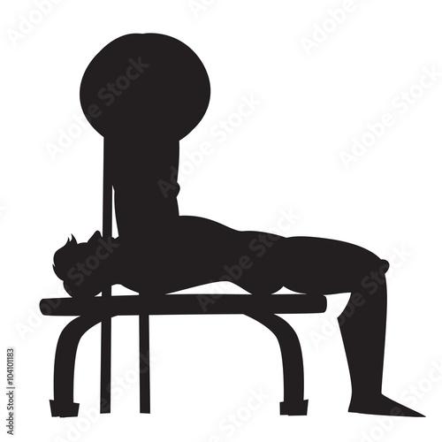 Bench Press Silhouette