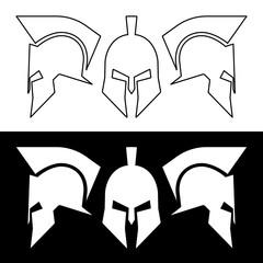 Roman greek helmet