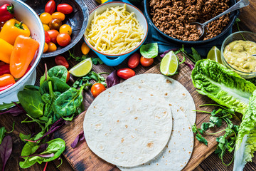 Traditional mexican tortillas or fajita recipe.