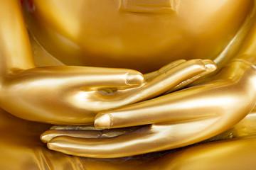 Hands of Golden Buddha statue