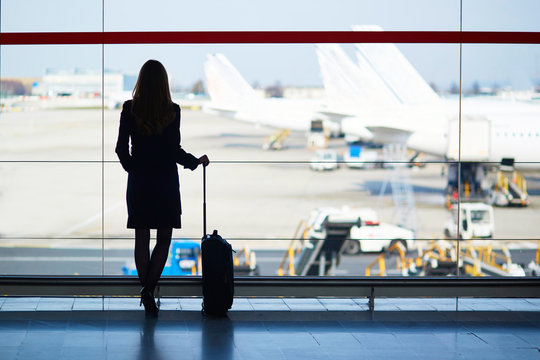 Young woman in the airport