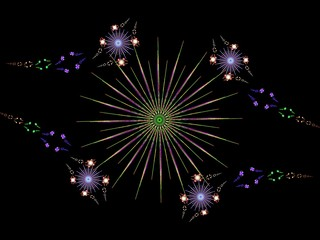 Creative star daisy flowers abstract fractal background