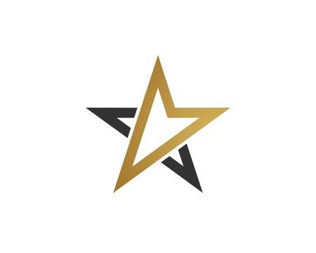Gold Arrow in Star
