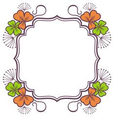 Beautiful floral frame. Vector clip art.