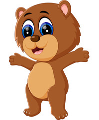 illustration of cute baby bear cartoon