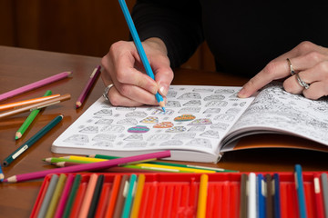 Adult coloring stress relief drawings