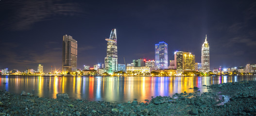 Ho Chi Minh city in night