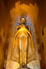 Buddha image at Ananda Temple, Bagan, Myanmar