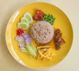 Fried rice with Shrimp paste, Thai style food. Thailand's nation