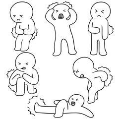 vector set of pain