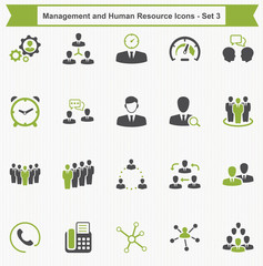 Management and Human Resource Icons - Set 3