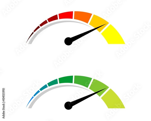"""Colorful Speedometer Logo 2"" Stock image and royalty-free ..."