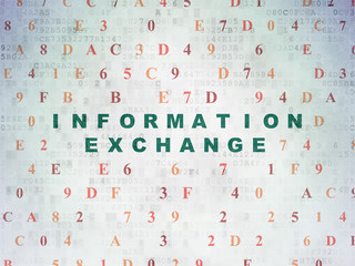 Information concept: Information Exchange on Digital Paper background