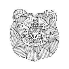 Adult coloring book page design