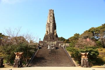 宮崎県 平和台公園 平和の塔 二月の風景