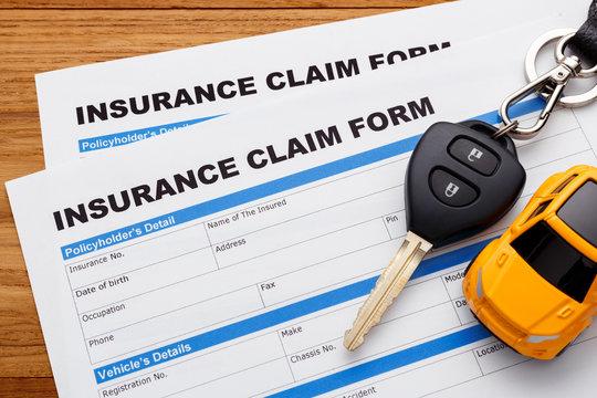 Car insurance claim concept