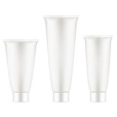 Tube Of Cream White Clean. EPS 10