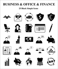 Business, Office & Finance 25 icons set