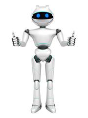 Robot  isolated on white background