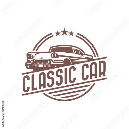 """""""Vintage Car Logo Template"""" Stock Image And Royalty-free"""