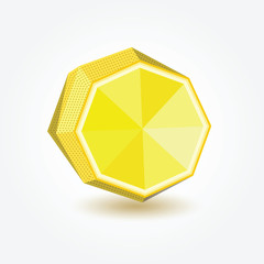 Polygon lemon, vector illustration.