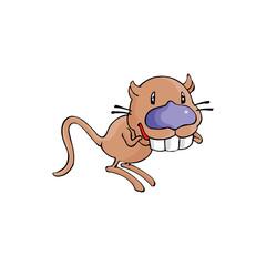 Cartoon Rat Big Teeth