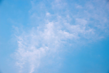 Blue sky and clouds in the bright days of summer.