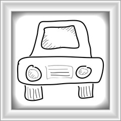 Simple doodle of a car