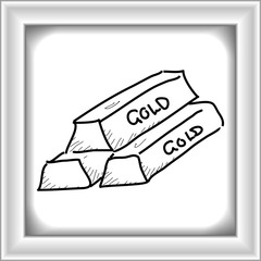 Simple doodle of a stack of gold bars