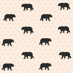 Seamless pattern with bear. Vector illustration