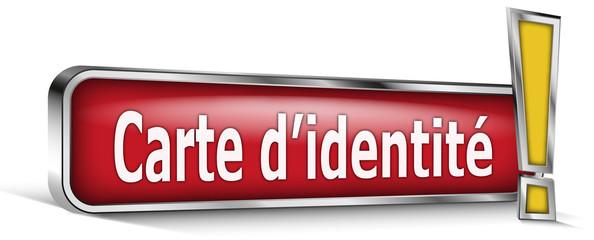 Carte d'identité sur panneau rouge