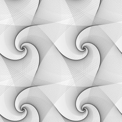 Seamless abstract black white spiral pattern
