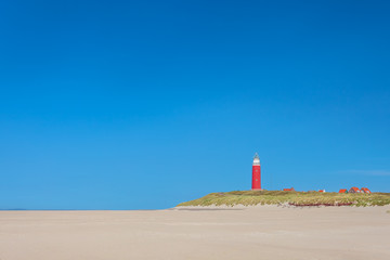 Lighthouse at the Dutch island of Texel Wall mural