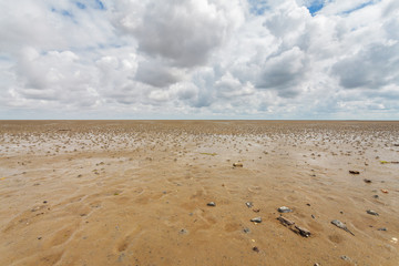Low tide at the Dutch Wadden Islands