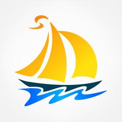boat symbol vector