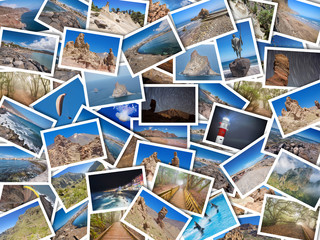 A collage of my best travel photos of Tenerife, Canary Island, Spain. Version 1