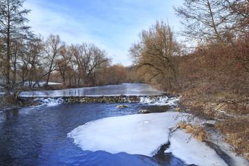 Beaver Dam on Frozen River